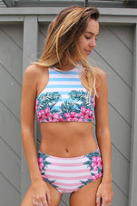 Cupshe Beauty Affair Floral Tank Bikini Set