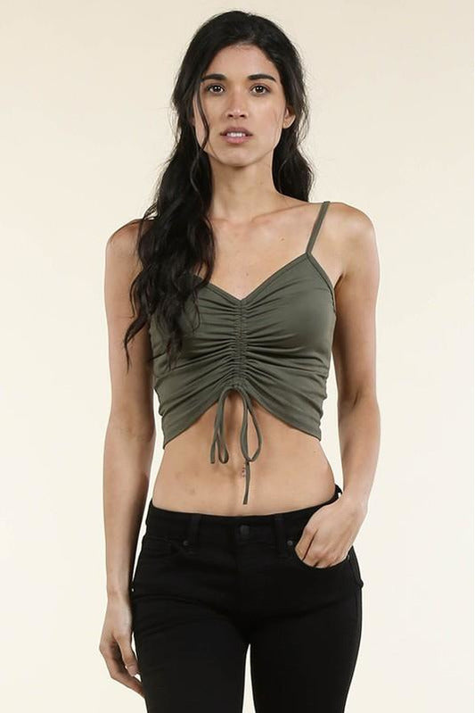 Ruched Camisole Crop Top