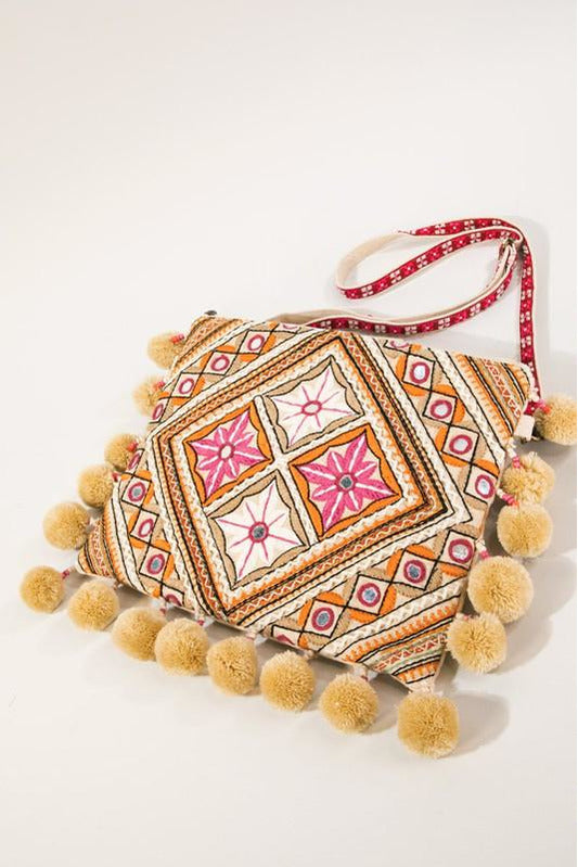 Moroccan Flower Embroidery Bag