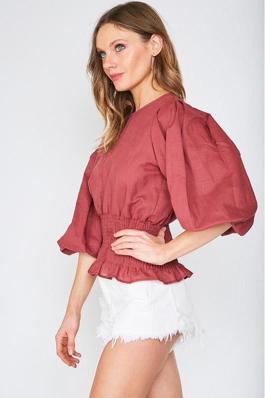 Maddy Puff Sleeve Top
