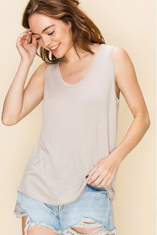 Scoop Neck Loose Fit Tank