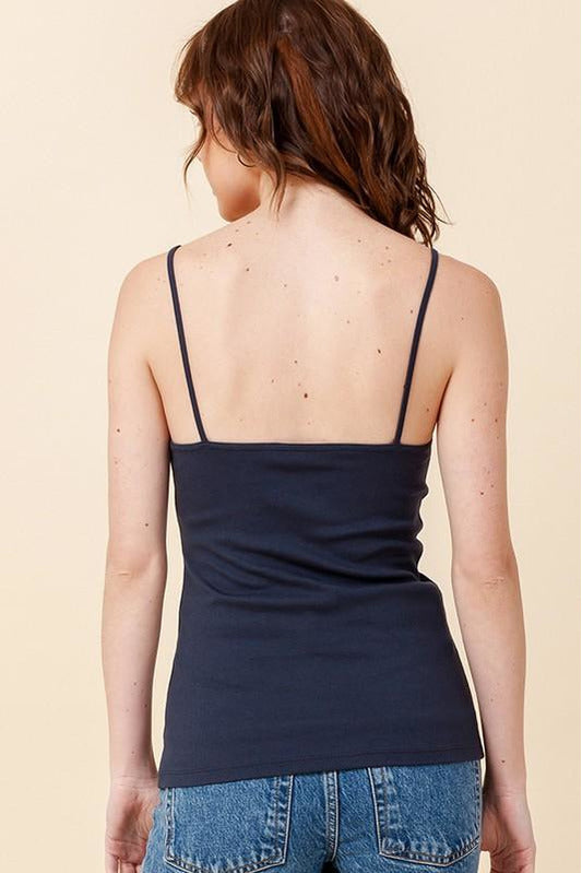 Scoop Front Ribbed Cami