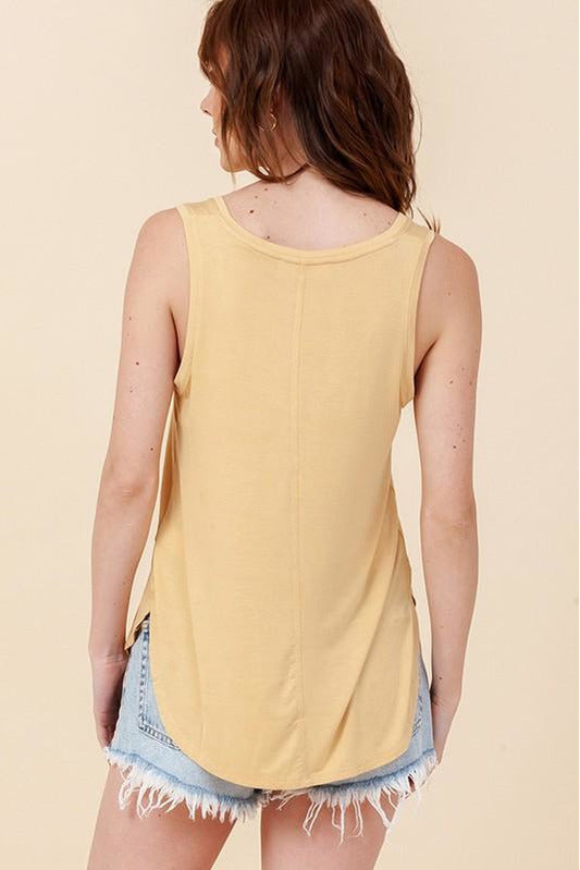 V Neck Sleevless Tank