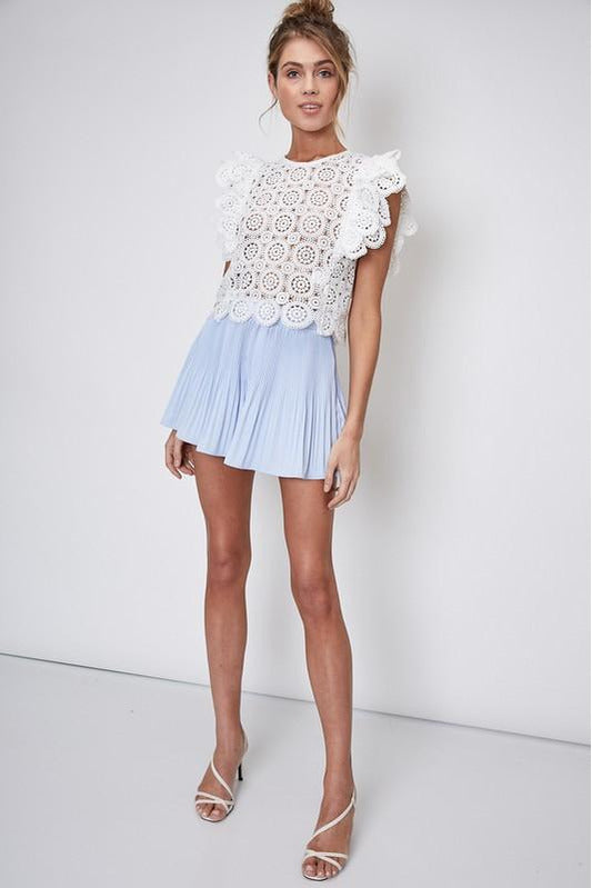 Periwinkle Pleated Dressy Shorts