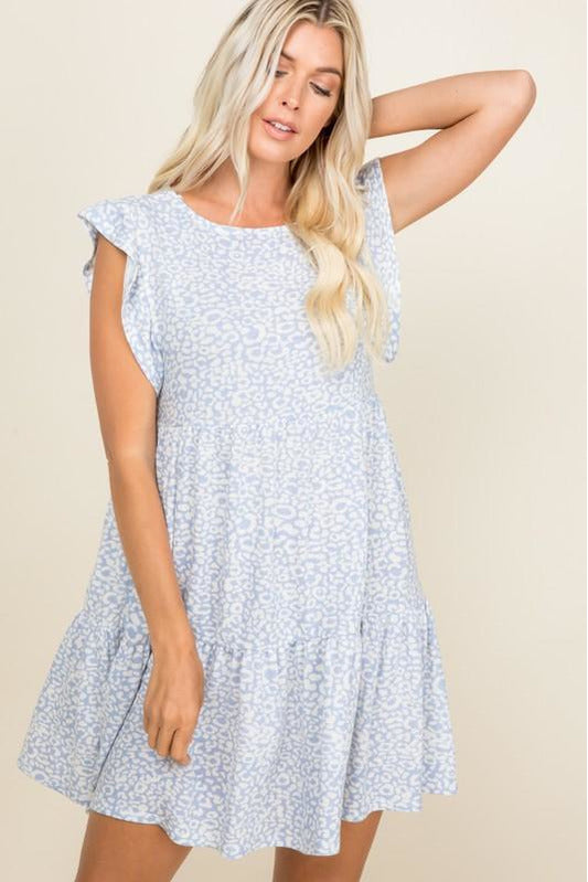 Blue French Terry Animal Dress