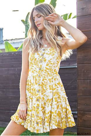 Lovely Yellow Floral Dress