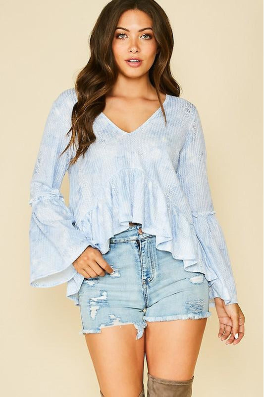 Blue Slither Tie Dye Top