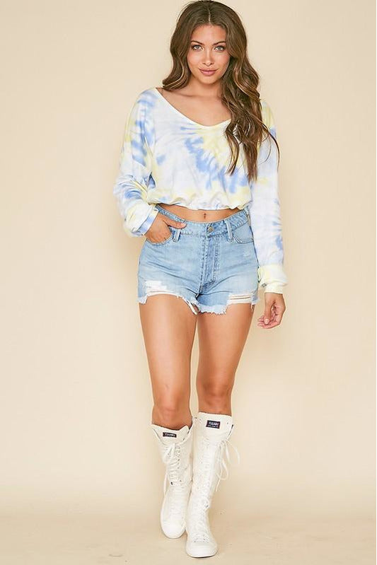 Tye Dyed Long Sleeve Top