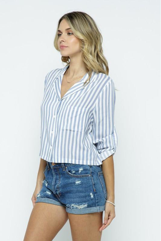 Striped Button Down Top