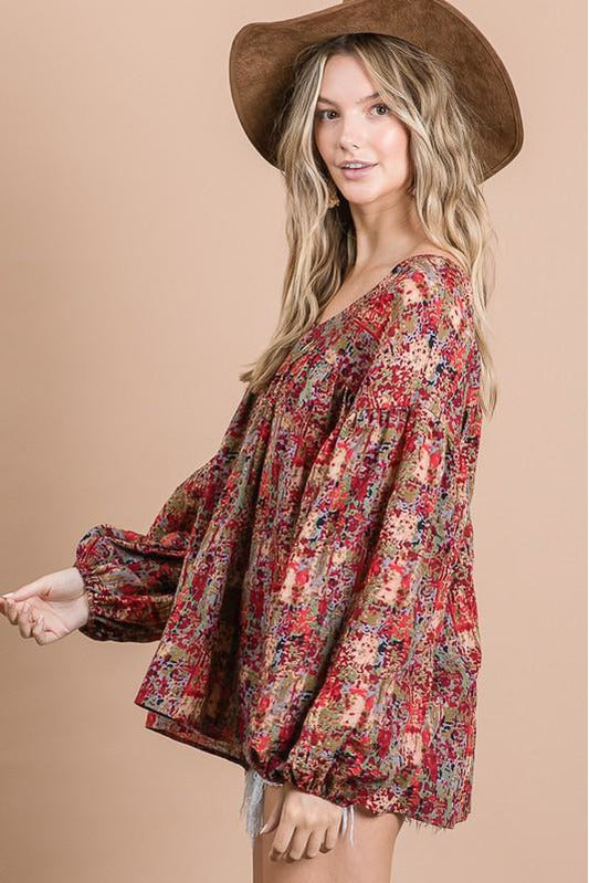 Lillianne Puff Sleeve Blouse