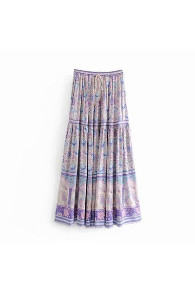 Aly Daly Lilac Floral Maxi Skirt