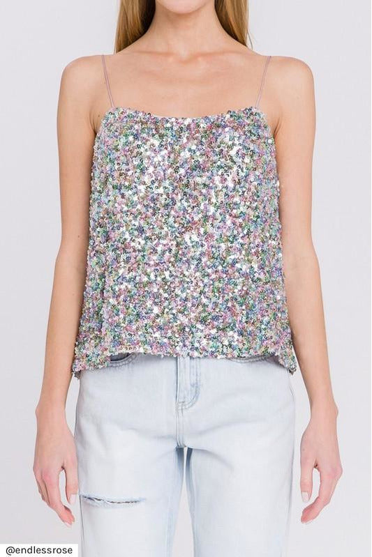 Unicorn Sequin Cami Top