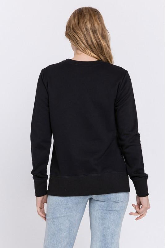 Unbalanced Black Sweatshirt