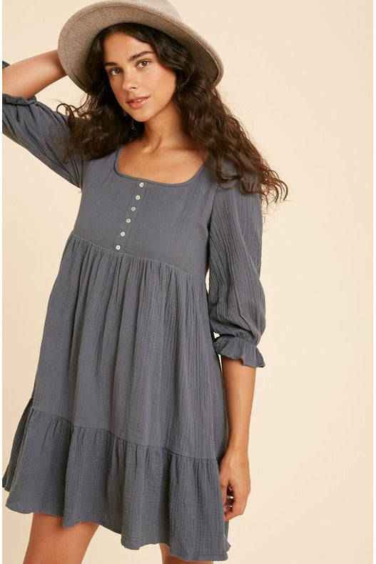 Cute As Pie Guazy BabyDoll Dress