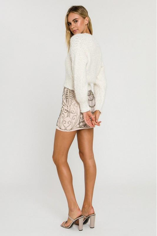 Just Fuzz Cream Sweater