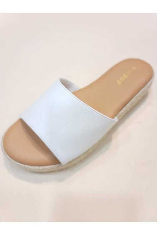 White Espidrille Sandals
