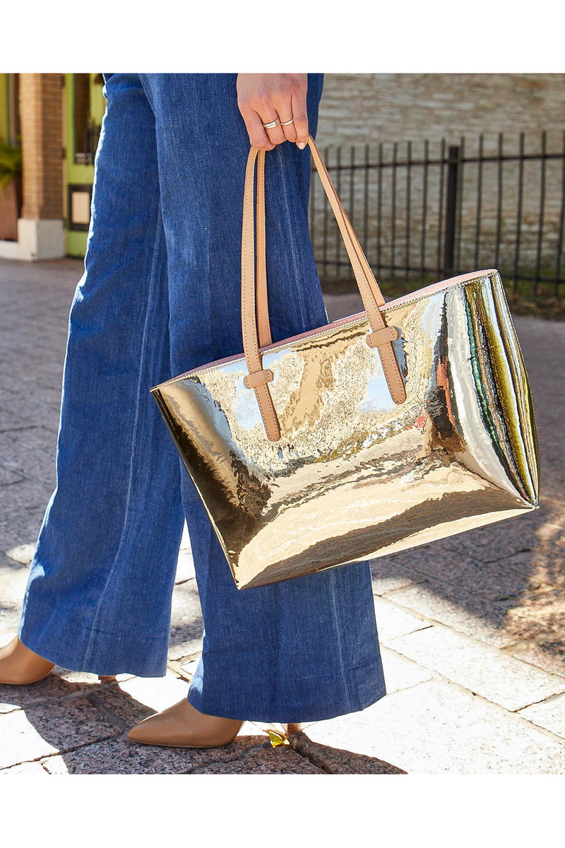 Consuela East West Goldie Gold Tote