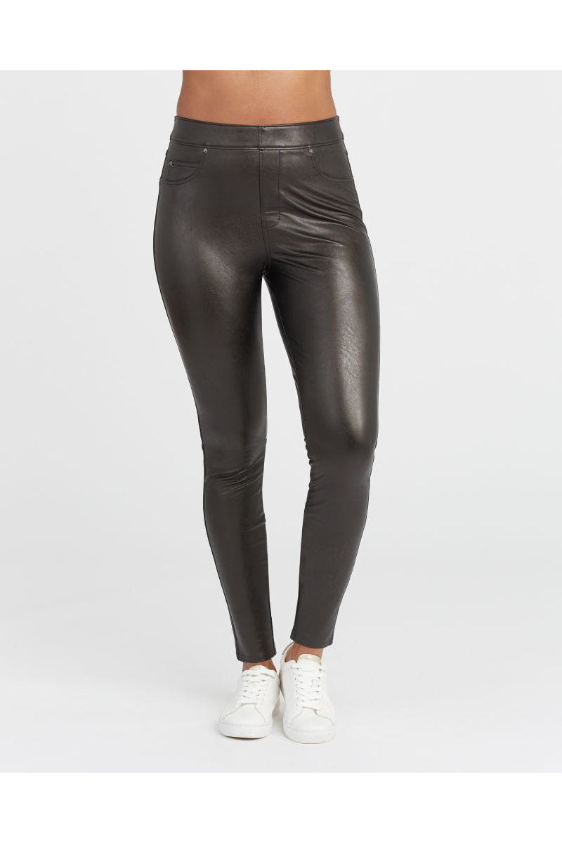 Leather - Like Ankle SKinny Skinny Pants