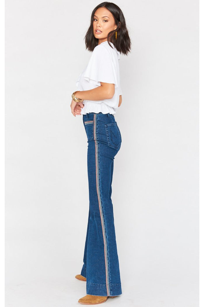 Sunset Stripe Farrah Flare Trouser