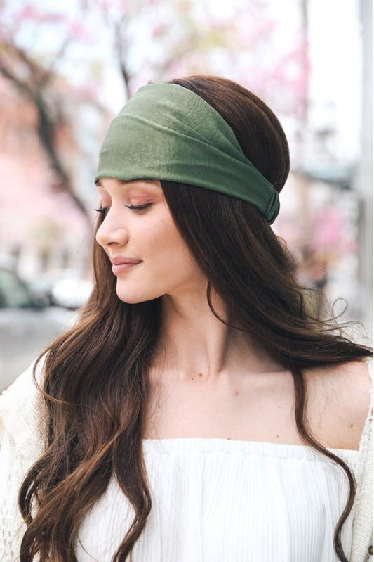 Soft Elastic Wide Headband