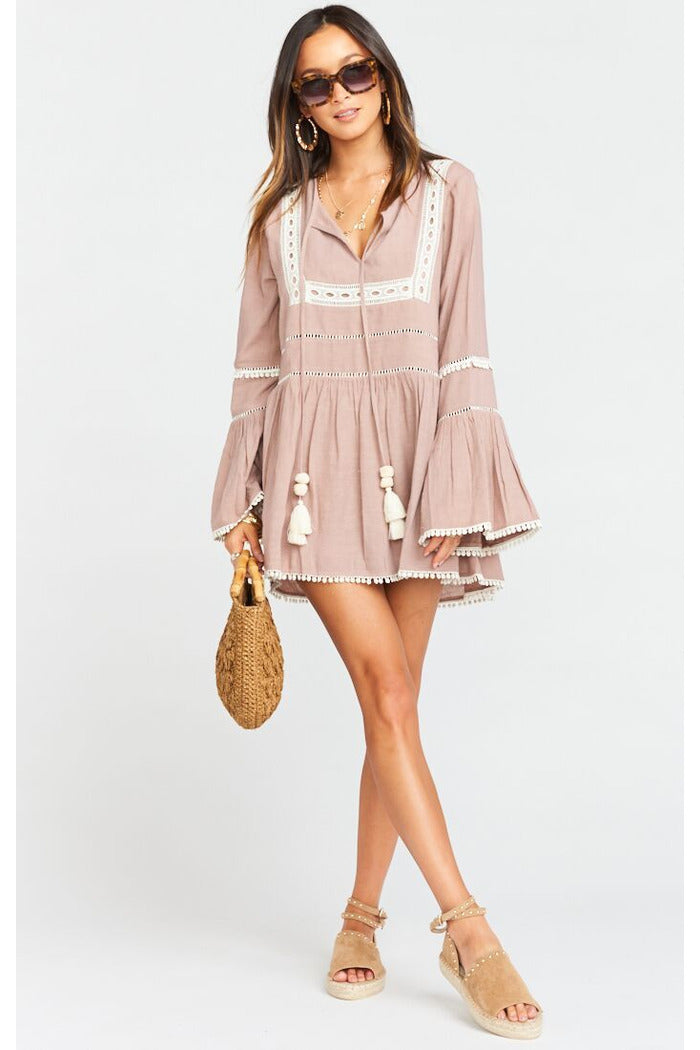Mauve Romania Tunic Dress