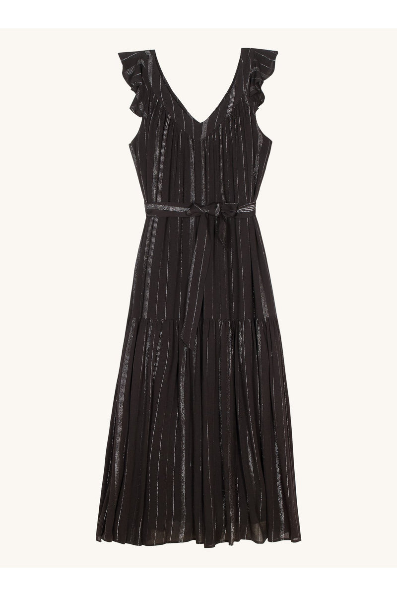 Adelyne Woven Black Dress