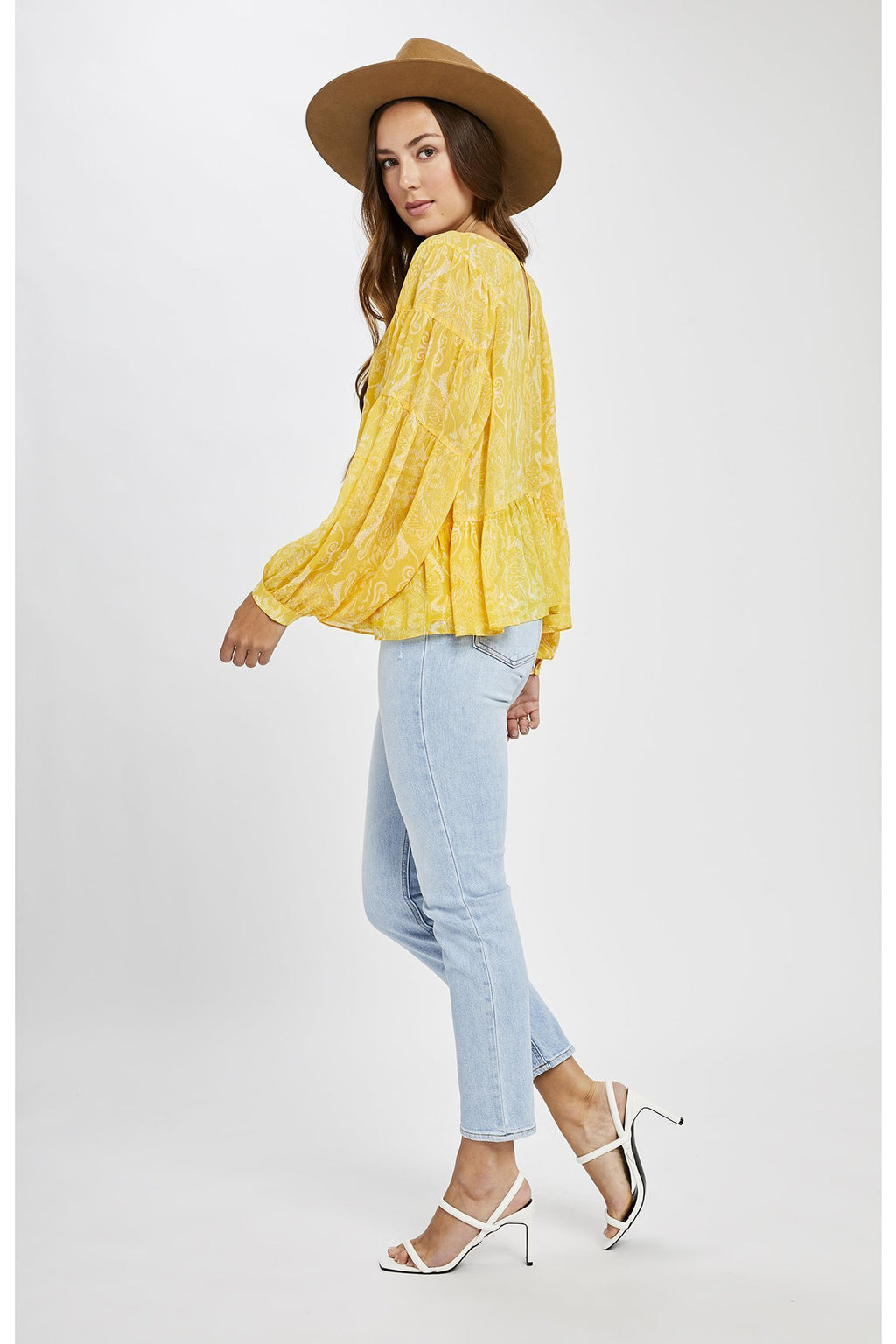 Felicity Yellow Paisley Blouse