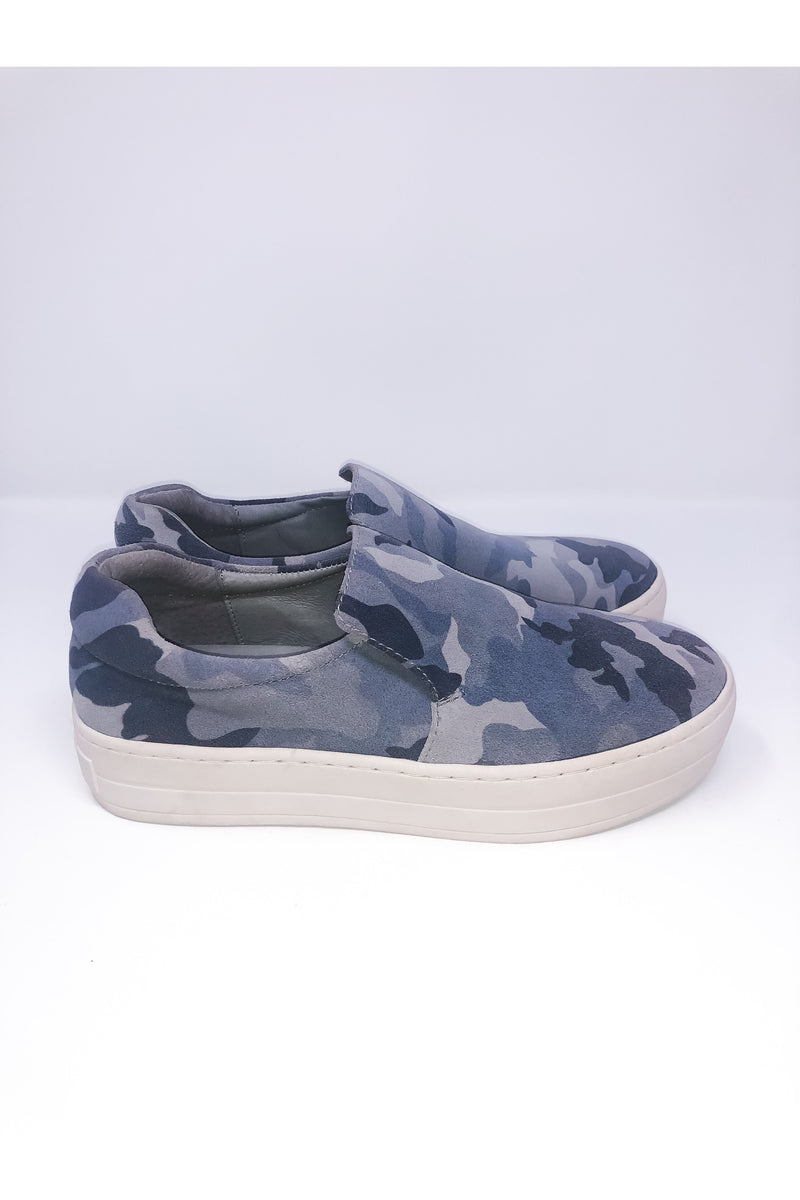 Grey Suede Camo Sneakers