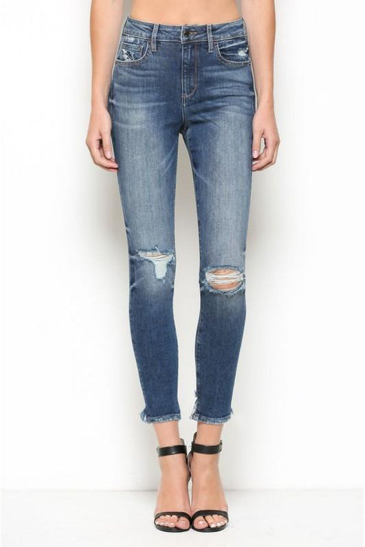 Taylor High Rise Distressed Skinny Jeans