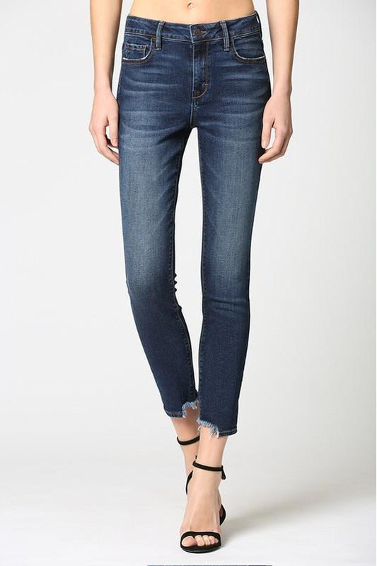 Amelia High Rise Dark Wash Cropped Skinny Jeans