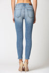 Amelia Medium Wash Heavily Grinded Skinny Jean