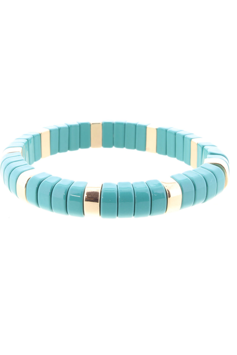 Teal & Gold Metal Bracelet