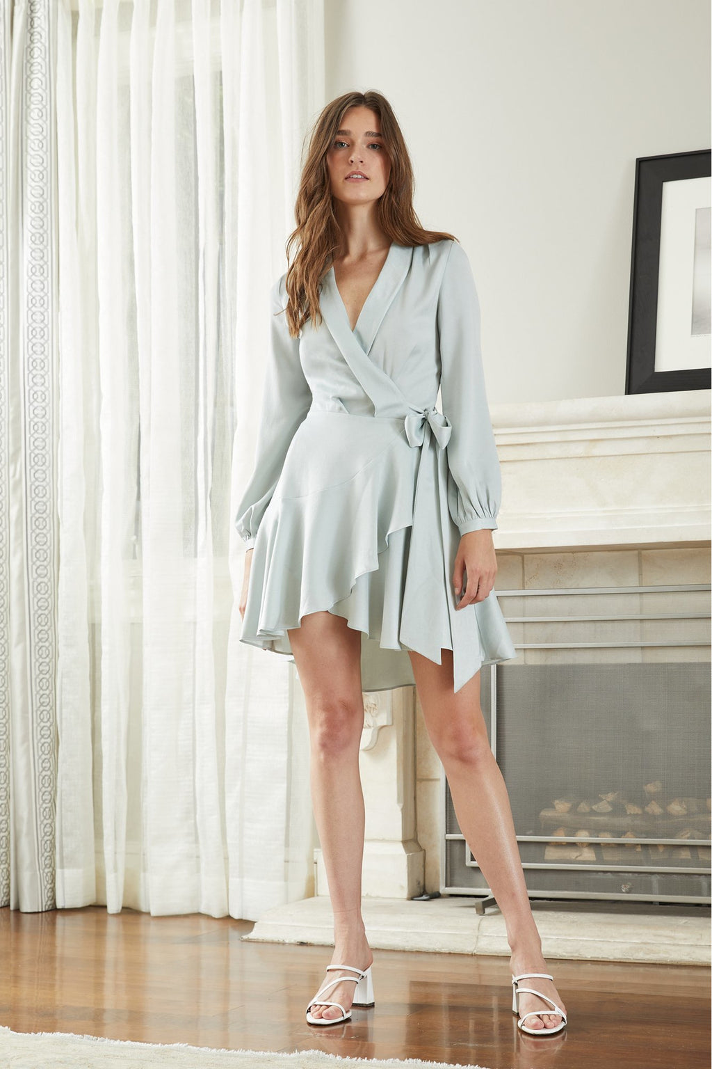 Sienna Wrap Dress -- Mint