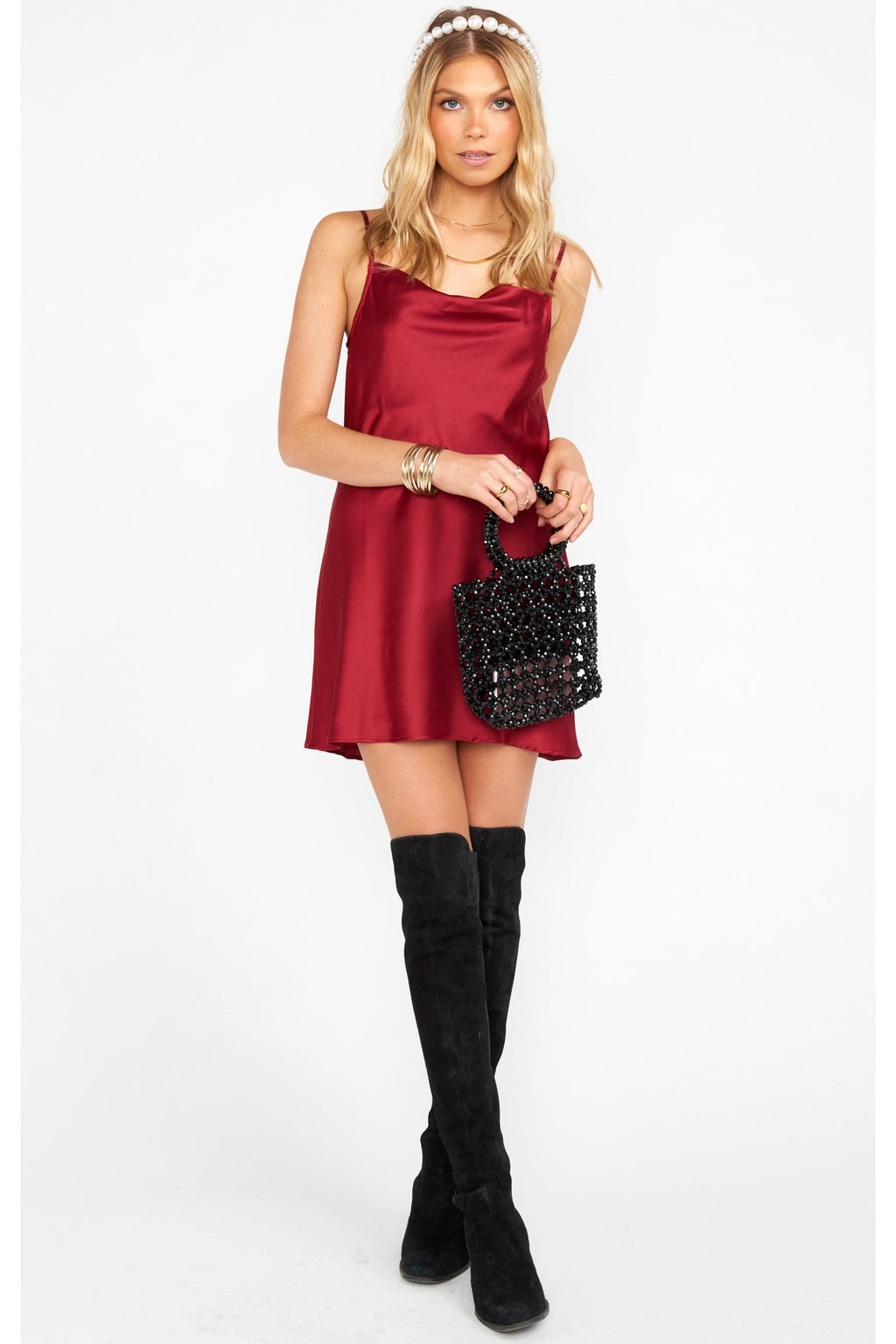Sabine Ruby Slip Dress