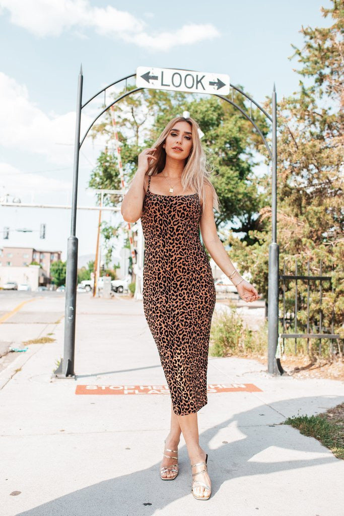 Madison Leopard Dress