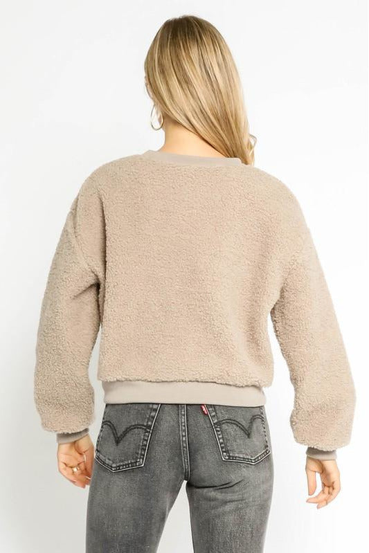 Shearling Pullover