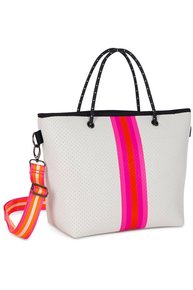 White Pink & Orange Ryan Pip Mini Tote