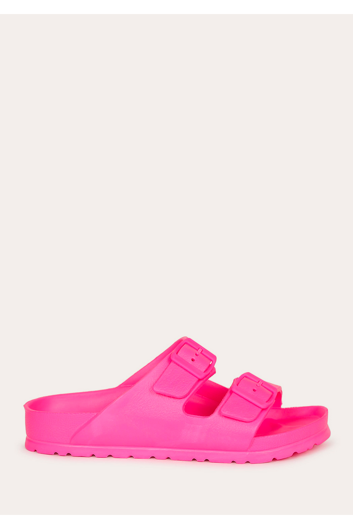 Neon Fuschia Lennie Sandals