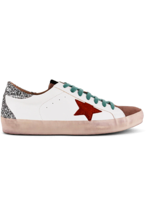 Paula Teal Lace Sneakers