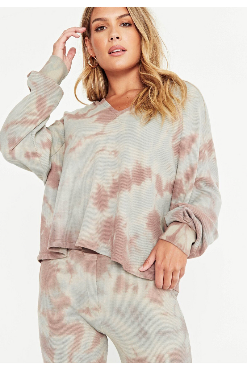 Wilderness Tie Dye Thermal Hoodie