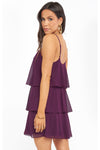 Suarez Ruffle Dress - Plum