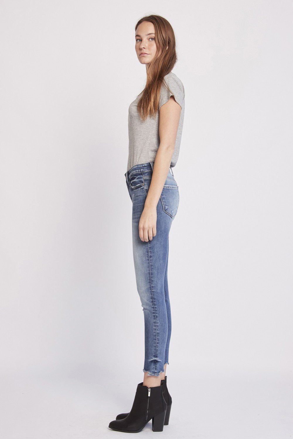 High Rise Crop Skinny Jean