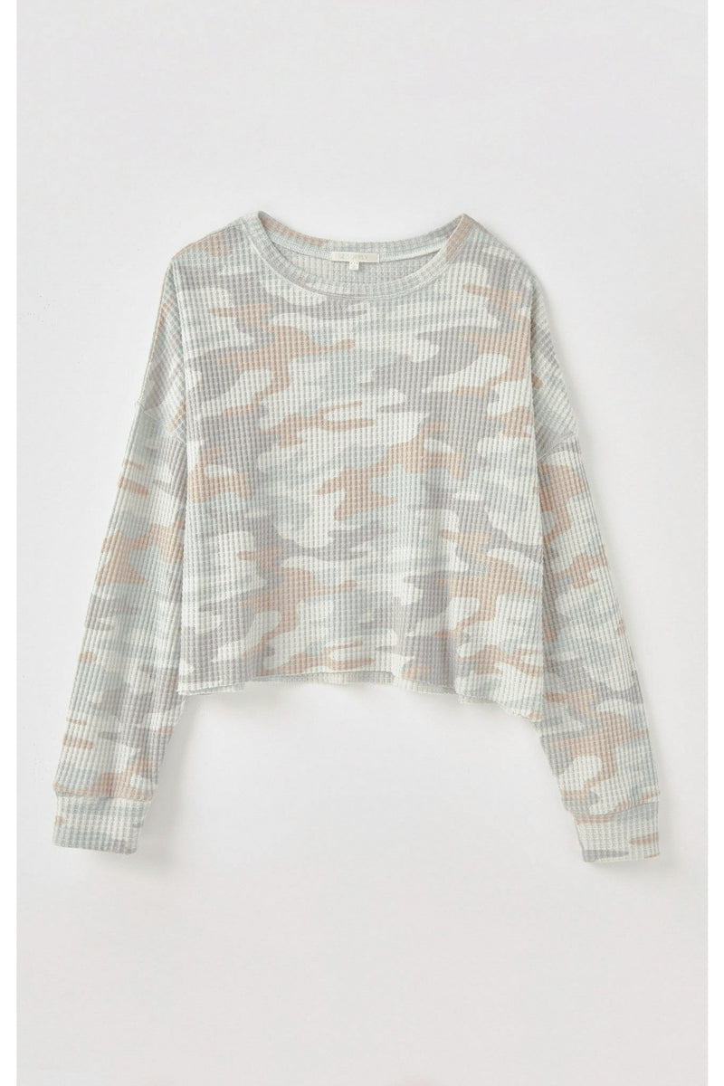 Celine Camo Long Sleeve Top