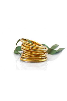 BuDhaGirl All Weather Gold Christian Prayer Bangles