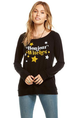 Chaser Bonjour Witches Love Knit Pullover