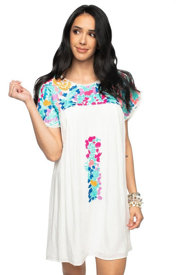 Carolina Pastel Embroidered Dress
