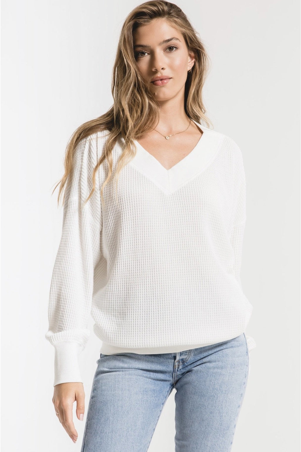 Emilia White Thermal Top