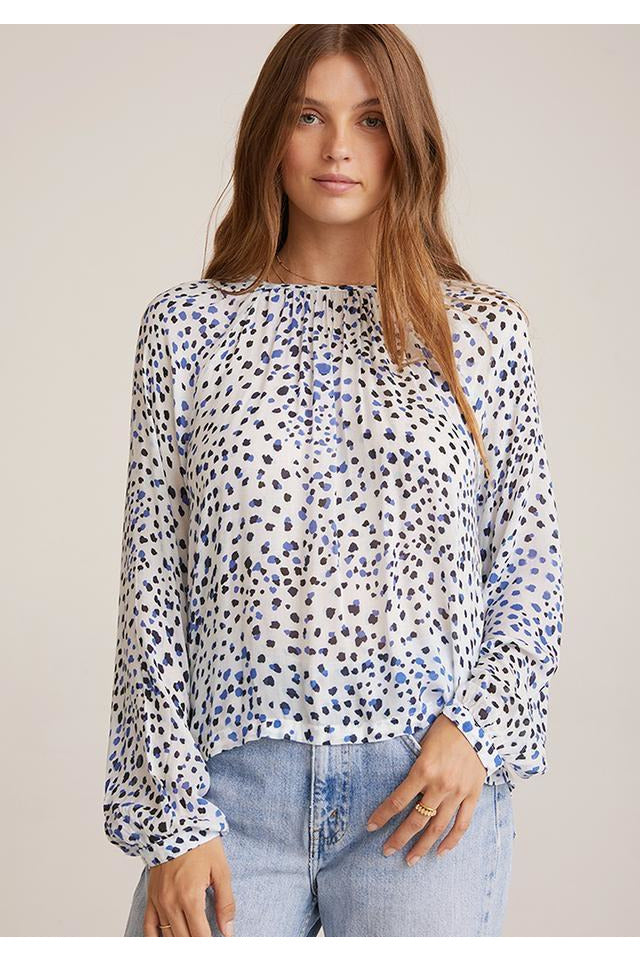 Button Raglan Sleeve Top
