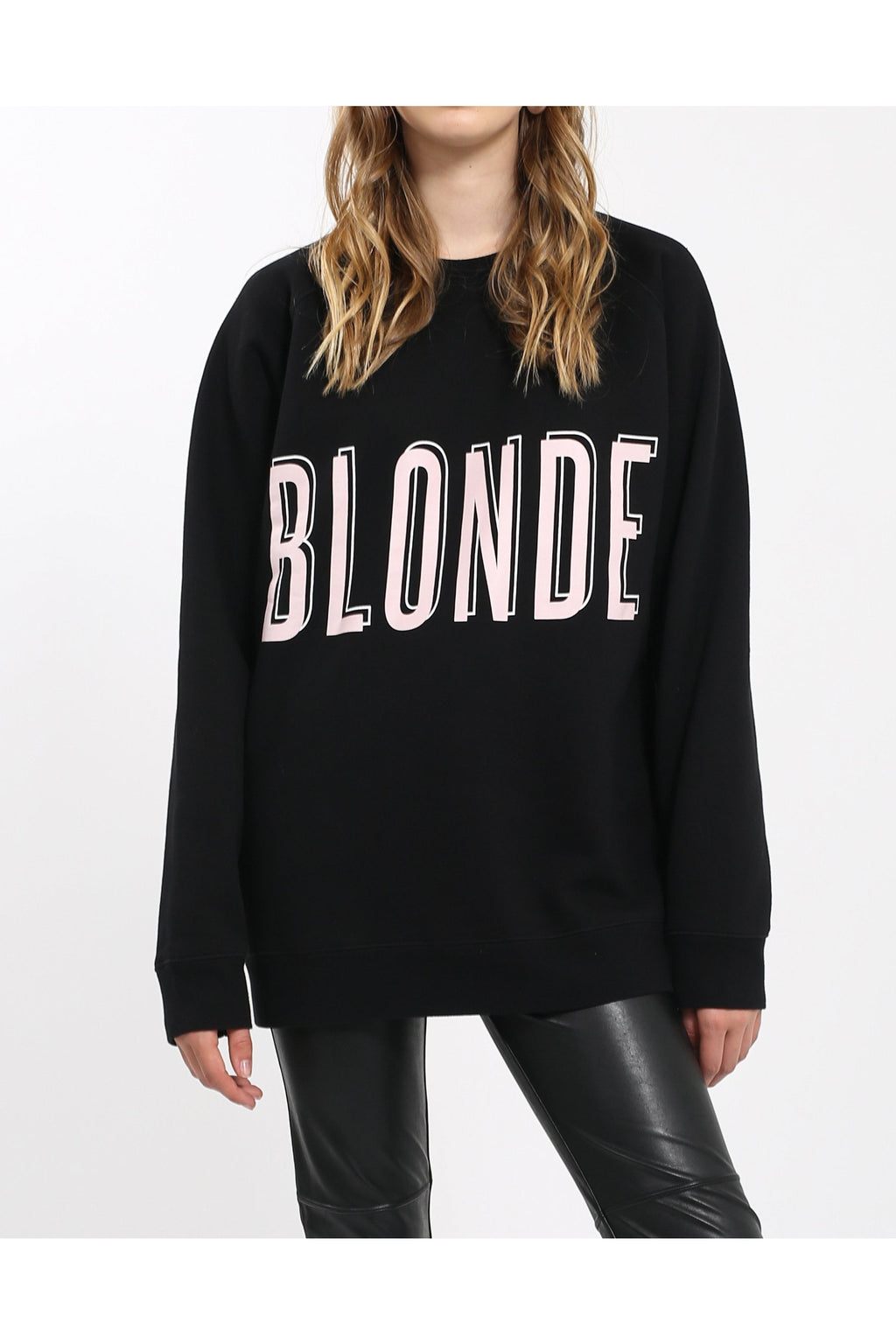 Blonde Big Sister Oversized Sweater