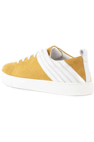 Stand Out Suede Yellow Sneakers